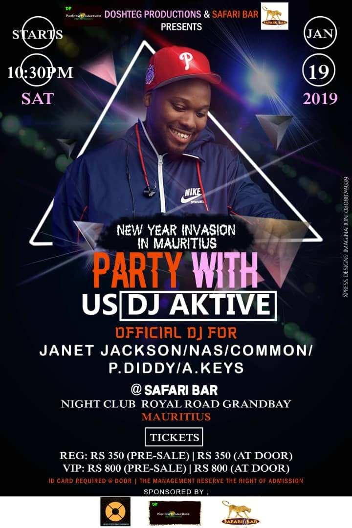 New Year Invasion Party with DJ AKTIVE @Safari bar Night